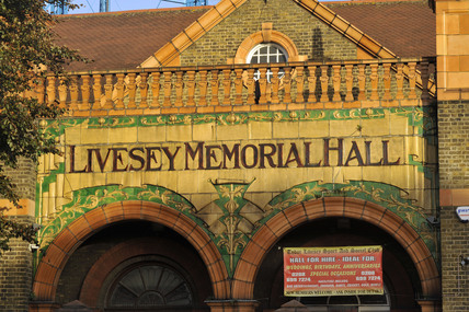 Close up of the Livesey Memorial Hall; 2009