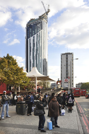 The Elephant and Castle and Strata Tower; 2009