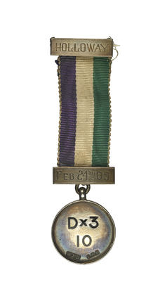 Holloway prison medal presented to the suffragette Lady Constance Lytton: c.1909