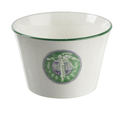 China sugar bowl designed by Sylvia Pankhurst: