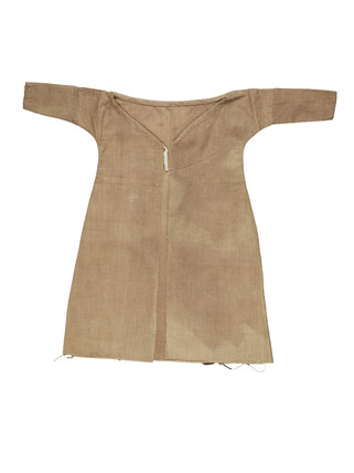 Brown cotton robe for artist's lay figure: 18th century
