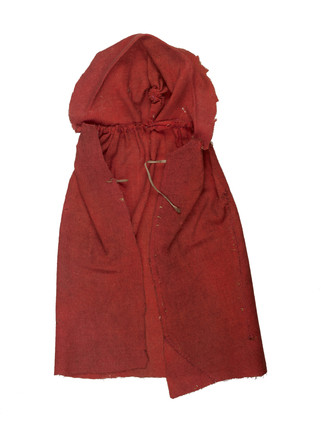 Red wool cloak for artist's lay figure: 18th century