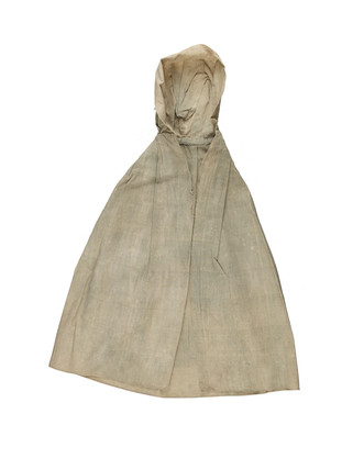 Cotton cloak with hood for artist's lay figure: 18th century