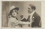 Edna May (Edna Pettie) as Baroness de Tregué and George Patrick Huntley as Earl of Plantagenet in 'Kitty Grey'