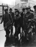 Ellen Cicely Wilkinson leading the Jarrow Marchers through Cricklewood in London