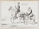 Don Quixote attended by his faithful squire Sancho Panza alias John Bull (Charles Grey, 2nd Earl Grey; John Bull)