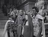 Claude Rains; Cecil Parker, Vivien Leigh and Stewart Granger in 'Caesar and Cleopatra'