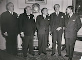 Renée Mayer; Winston Churchill; Georges-Augustin Bidault; Anthony Eden, 1st Earl of Avon; Robert Buron