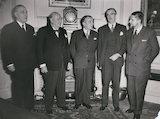 Renée Mayer; Winston Churchill; Georges-Augustin Bidault; Anthony Eden, 1st Earl of Avon; Robert Buron