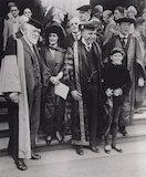 Nancy Astor, Viscountess Astor; Sir Oliver Joseph Lodge; Sir (Joseph) Austen Chamberlain