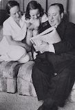 Alma Reville; Patricia Hitchcock; Alfred Hitchcock