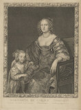 Margaret Montagu (née Russell), Countess of Manchester with an unknown daughter