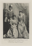 Haakon VII, King of Norway when Prince Charles of Denmark with Maud, Queen of Norway when Princess Charles of Denmark and Princess Victoria of Wales as Ladies of the Court of Marguerite de Valois