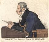 Sir Matthew Wood, 1st Bt ('A view in the Justice Room, Guildhall')