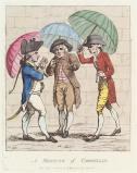 'A meeting of umbrellas'
