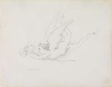 A putto pursuing a butterfly