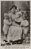 Ena, Queen of Spain and children