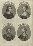 Louise of Savoy, formerly known as Katherine of Aragon; Jane Seymour; Anne of Cleves; Catherine Howard