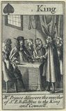 'Mr Prance discovers the murther of Sr. E.B. Godfree to the King and Councell' (Miles Prance; King Charles II)