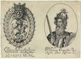 Title for 'Effigies Regum Anglorum a Wilhelmo Conquestore'; fictitious portrait called King William I ('The Conqueror')