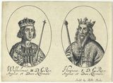 King William II ('Rufus'); King Henry I (fictitious portraits)
