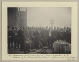 'The Harvard and Yale (Henley Crews) visitors to the Terrace of the House of Commons (Introduction to Mr Balfour)'