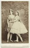 Fanny Wright (Mrs Williams) as Bacchus; Caroline Adams as Ariadne in 'Bacchus and Ariadne'