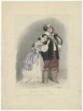 Giulia Grisi as Elvira; Luigi Lablache as Sir Georgio in Bellini's 'I Puritani'