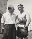 Randolph Turpin with his trainer