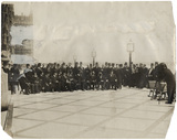 Benjamin Stone photographing a large group on the terrace of the House of Commons