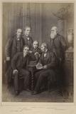 'Authors' (John Stuart Mill; Charles Lamb; Charles Kingsley; Herbert Spencer; John Ruskin; Charles Darwin)