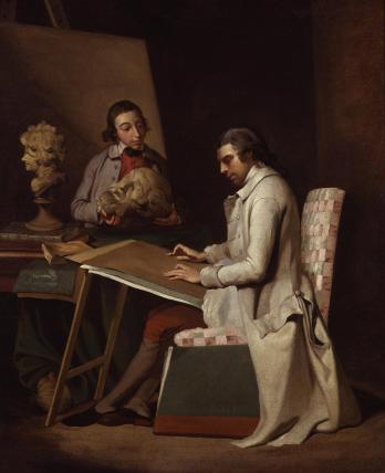John Hamilton Mortimer with a student