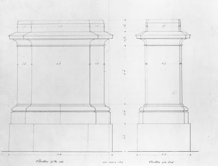 Plans for pedestal of Statue of Duke of Wellington