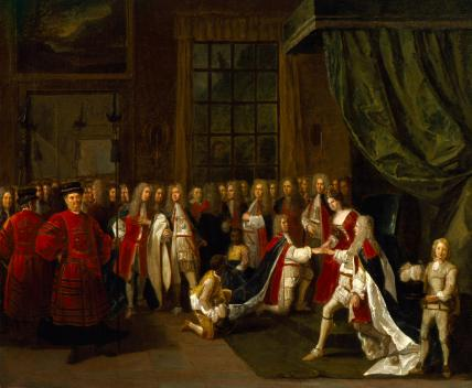 Queen Anne and the Knights of the Garter
