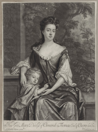 Mary Butler (née Somerset), Duchess of Ormonde and her son Thomas, Earl of Ossory