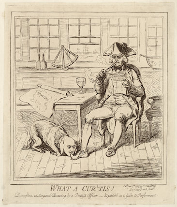 'What a cur 'tis!' (Sir Roger Curtis, 1st Bt; Richard Howe, 1st Earl Howe)