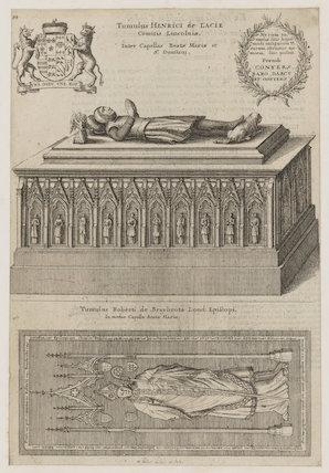 Tomb effigies of Henry Lacy, 5th Earl of Lincoln; Robert Braybrooke (Braybroke)