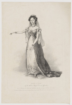Maria Ann Lovell (née Lacy) as Princess Diana in 'Love's Victory'
