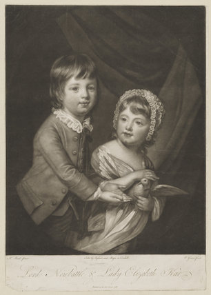 William Kerr, 6th Marquess of Lothian when Lord Newbattle; Lady Elizabeth Dormer (née Kerr)