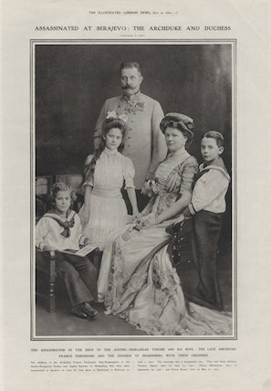 Franz Ferdinand, Archduke of Austria-Este with his family