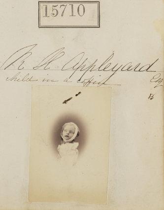 'R.H. Appleyard (child in a coffin)' (Beatrice Mary Appleyard)