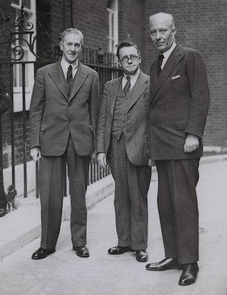 Walter Citrine, 1st Baron Citrine; Herbert Morrison, Baron Morrison of Lambeth; Hugh John Neale Dalton, Baron Dalton