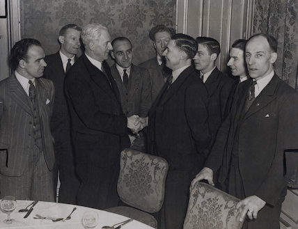 Walter McLennan Citrine, 1st Baron Citrine, Sam Evans and representatives of miners unions