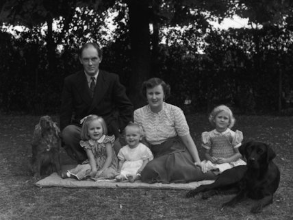 Sir Brian Wyldbore-Smith with his family