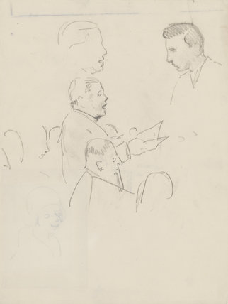 Tudor Davies, Roy Henderson and Leslie Woodgate