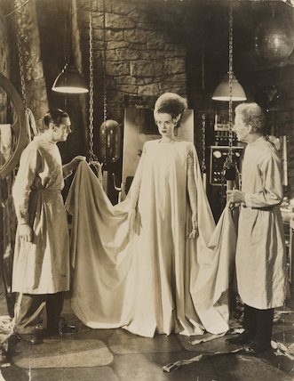 Colin Clive; Elsa Lanchester; Ernest Frederic Graham Thesiger in 'The Bride of Frankenstein'