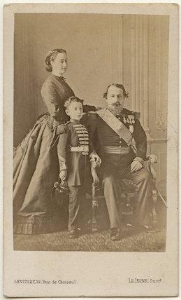 Eugénie, Empress of France ('Eugénie de Montijo'); Napoléon, Prince Imperial; Napoléon III, Emperor of France
