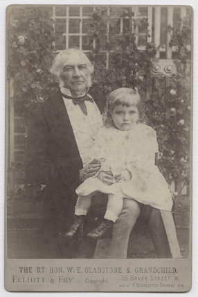 William Ewart Gladstone with his grandchild