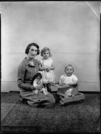 Mary Theresa (née Montagu-Douglas-Scott), Lady Burghley; Lady Davina Mary Barnard (née Cecil); John William Edward Cecil