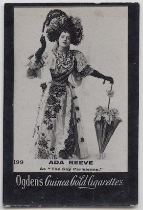 Ada Reeve as Julie Bon Bon in 'The Gay Parisienne'